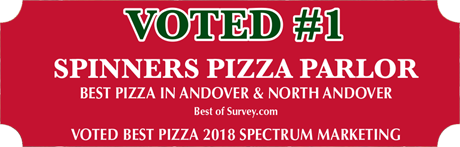 Voted #1 Spinners Pizza Parlor Best Pizza in Andover & North Andover